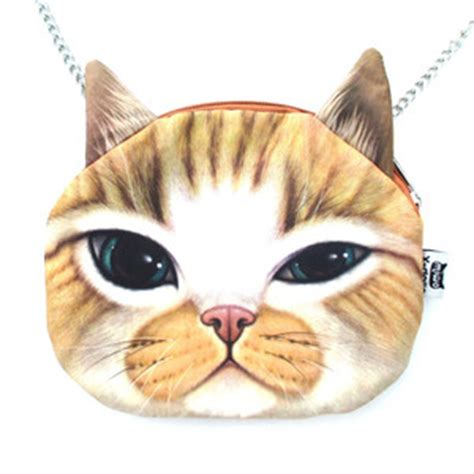 Sling Bag Cutie Grey Cat wallets coin purses 183 dotoly animal jewelry 183 the animal