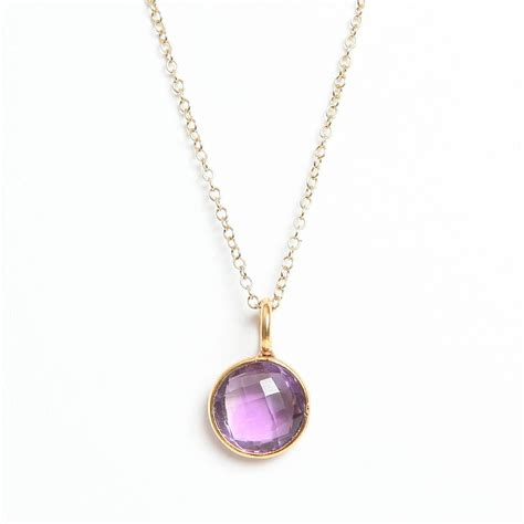amethyst necklace by amara amara jewellery