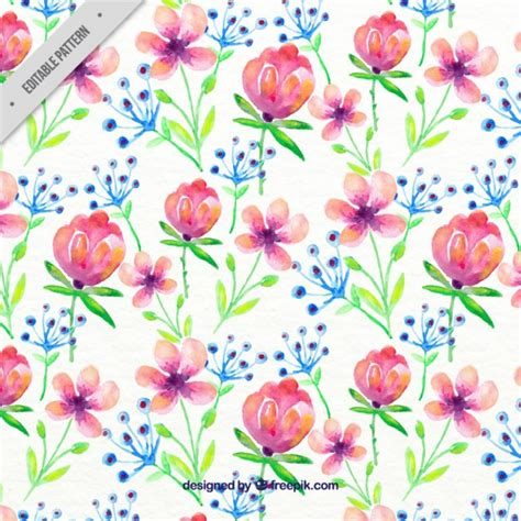 hand painted flower pattern floral pattern vectors photos and psd files free download