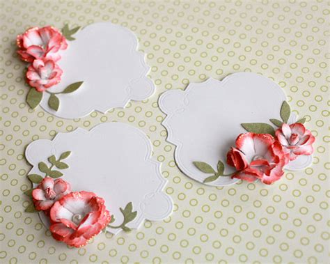 Floral Embellishments For Your Scrapbook Layouts by Floral Journalling Tag Embellishment