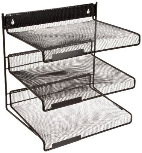 3 Tier Desk Shelf by Design Ideas Three Tiered Desk Shelf Black