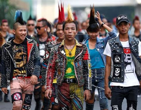 how to do punk myanmar s punks keep hair in place gather ahead of new