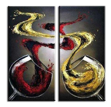 cuadro con corchos de vino cuadros modernos online copas de vino pintados a mano