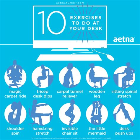 10 exercises to do at your desk pictures photos and