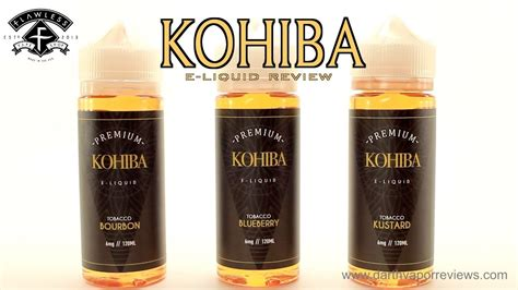 kohiba tobacco  liquid  review youtube
