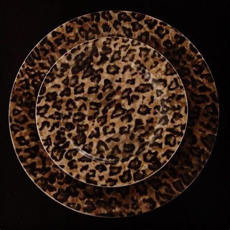 leopard print plates leopard deko
