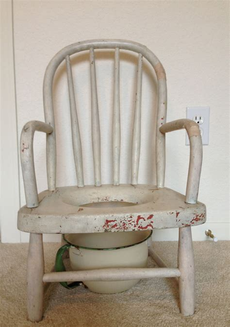 Antique Potty Chair by Vintage Wood Potty Chair With Enamel Chamber Pot