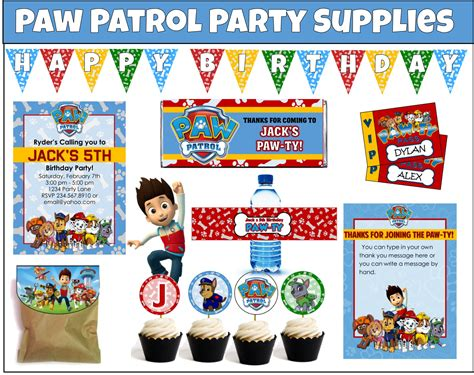 printable paw patrol birthday decorations paw patrol party games and ideas