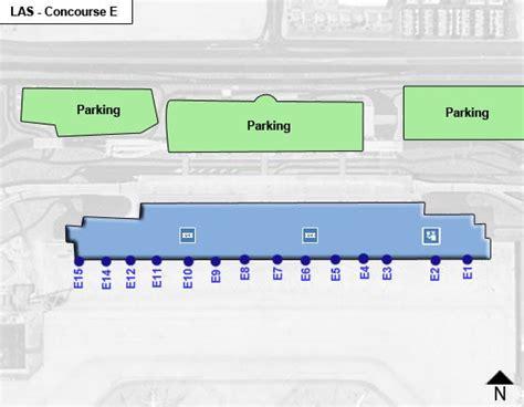 Las Vegas McCarran Airport LAS Concourse E Map