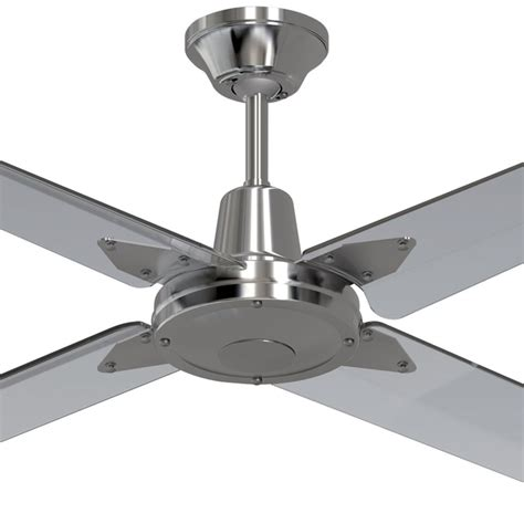 hunter brand ceiling fans clear blades typhoon 52 quot 316 stainless steel ceiling fan w