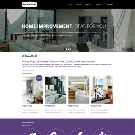 home remodeling website templates