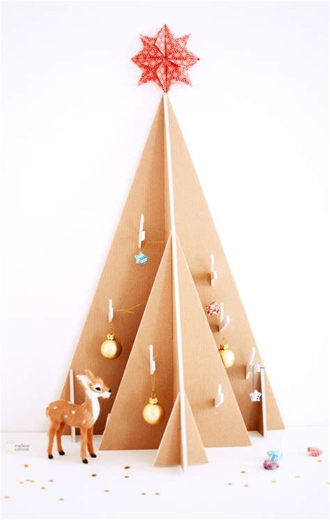 Diy Cardboard Christmas Tree Tutorial With Free Printable Template Christmas Pinterest Cardboard Tree Template