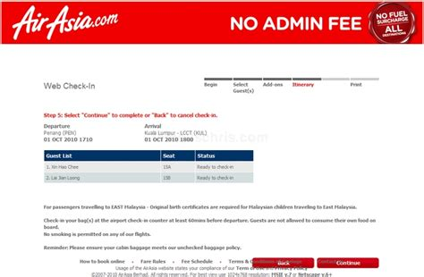 airasia early check in how to use airasia web check in