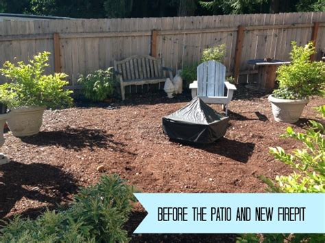 Backyard Makeover Ideas Easy Diy Firepit Progress On The Fall Backyard Makeover Project The Inspired Room