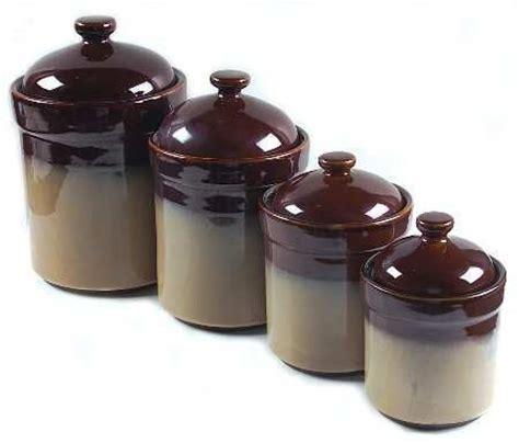 sango nova brown 4 piece kitchen canister set by sango fine china dinnerware smooth and fine china on pinterest