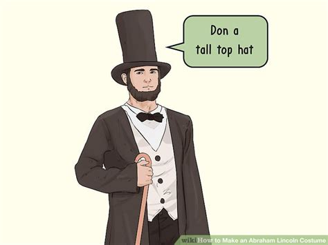 abraham lincoln suit 4 ways to make an abraham lincoln costume wikihow