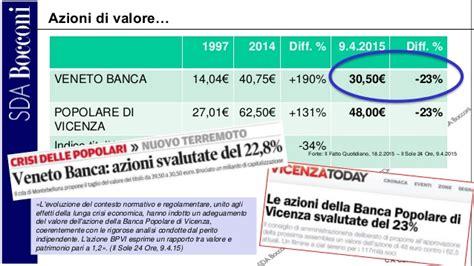 Azioni Veneto Banca Valore by Risparmiatori Italiani Vittime O Complici Di Banche Poco