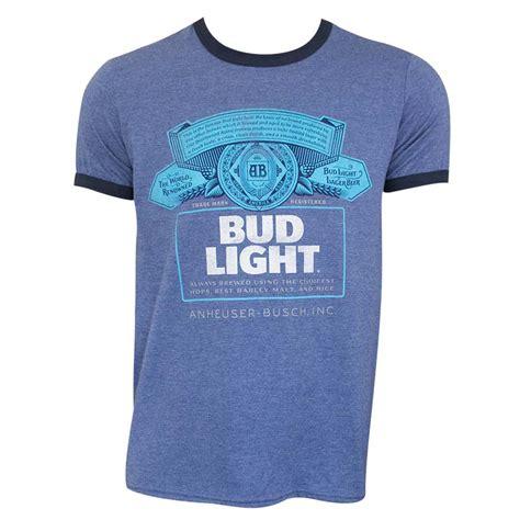 light blue ringer bud light s blue ringer t shirt