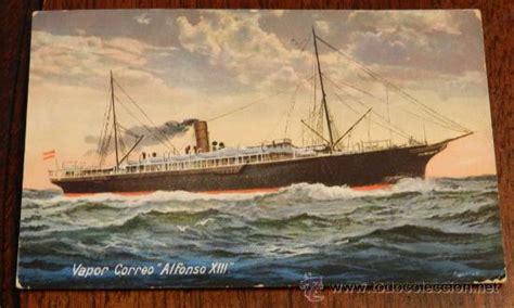 barco vapor alfonso xiii antigua postal del barco vapor correo alfonso x comprar