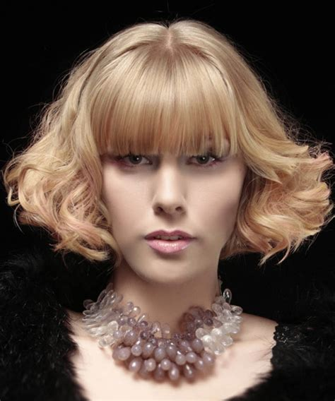 blunt bangs hairstyles blonde images short curly formal bob hairstyle with blunt cut bangs