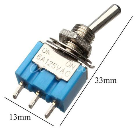 Switch Geser Mini 3 Pin miniature toggle switch mts 102 spdt 6a 125vac 3a 250vac mini switch lever switch 3 pin on on