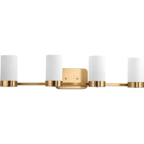 4 light vanity light bronze progress lighting elevate collection 4 light brushed