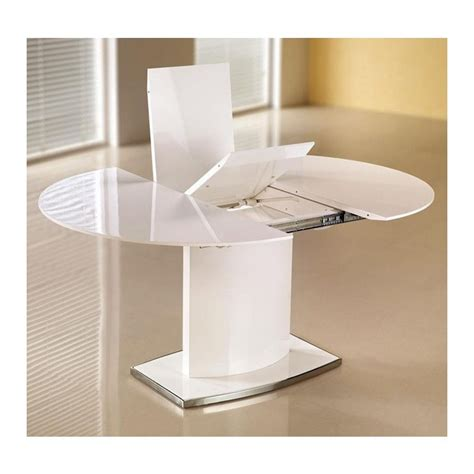 Table Ovale Avec Rallonge by Table 224 Manger Ovale Extensible Blanc Laqu 233