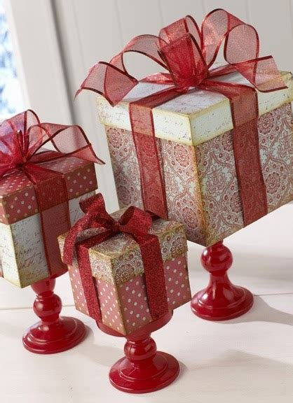 beautiful bridal christmas gift centerpieces