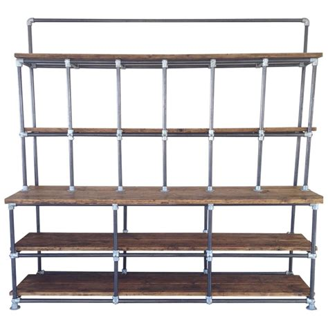 vintage industrial pipe and plank shelving shabby chic at
