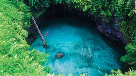 Découvrez l'incroyable piscine naturelle de Lotofaga au Samoa