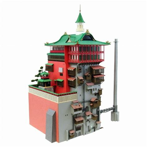 Ghibli Papercraft - studio ghibli spirited away laser cut bath house model 1