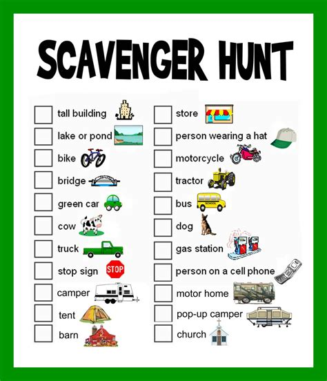 scavenger hunt template road trip help page 5 the dis disney