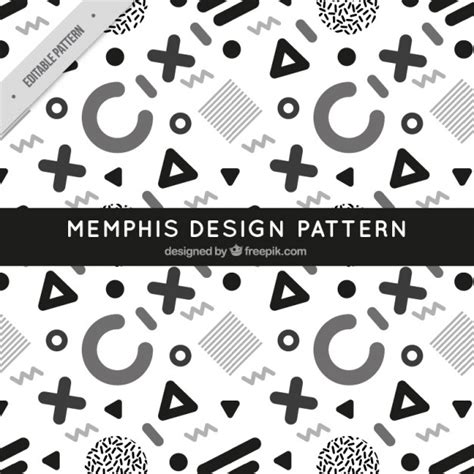 memphis pattern ai memphis style pattern vector free download