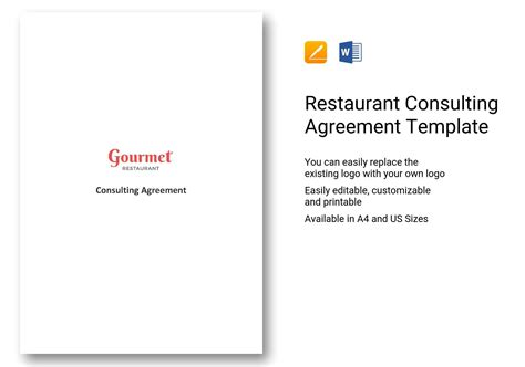 Restaurant Consulting Agreement Template In Ms Word Pages Restaurant Consulting Contract Template