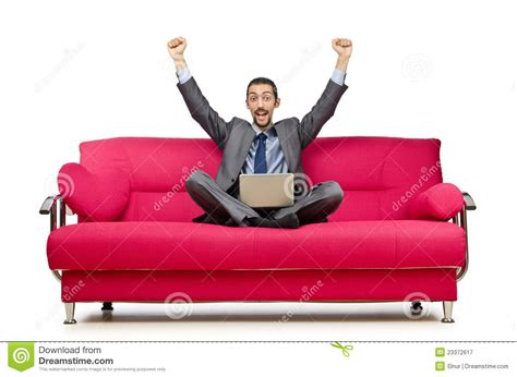 sitting in sofa man sitting in sofa royalty free stock photography image
