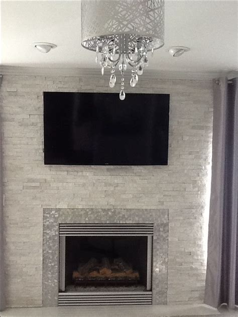 modern contemporary white quartz ledger fireplace