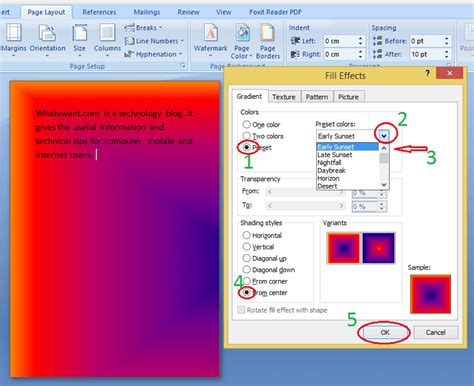 word background color how to insert background in word add color image gradient