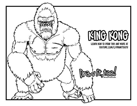 coloring pages king kong godzilla coloring pages sketch coloring page