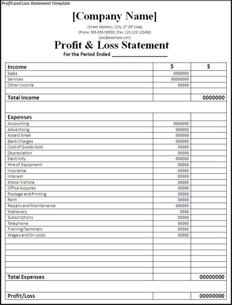 simple income statement template spreadsheet templates for