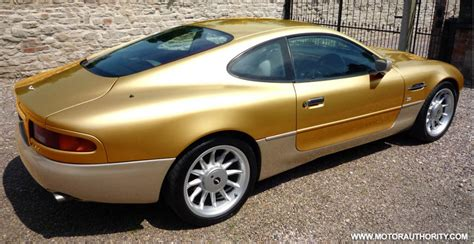 gold aston martin gold plated aston martin up for sale