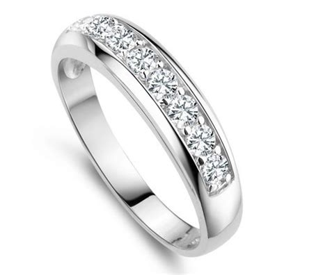 925 sterling silver wedding band rings for simulated