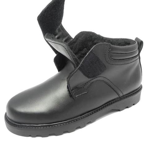 mens velcro winter boots mens dr keller leather warm fleece fur lined wide fit