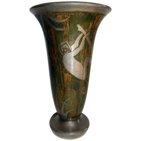 George Vase by Deco Dinanderie Metalware Vase Signed George
