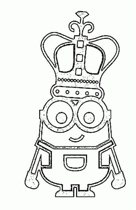 minions coloring pages king bob goodies 169 despicable me