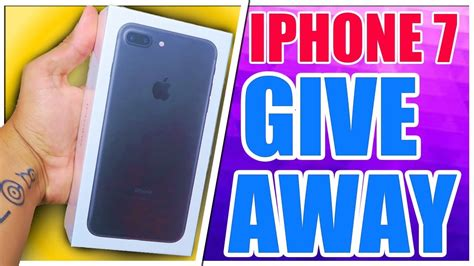 Free Iphone Sweepstakes - free iphone 7 plus giveaway youtube