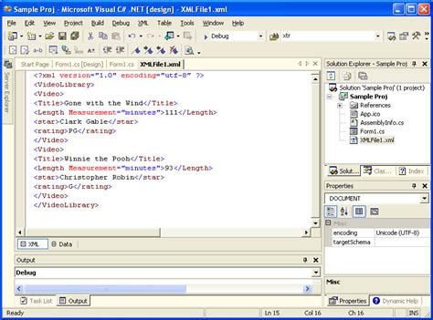 xml tutorial programming using visual c net to edit xml files chapter 19 xml