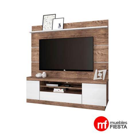 mueble para tv con luz led hasta 65 quot lib madera blanco - Mueble De Madera Para Tv