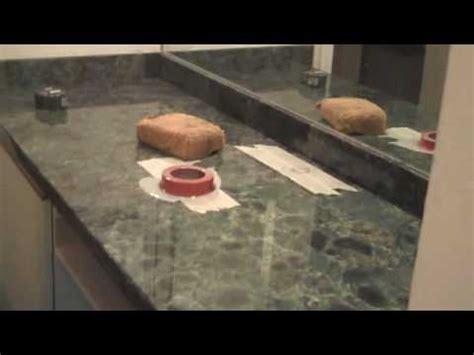 Drilling Quartz Countertop by Drilling A In Quartz Vanity Countertop