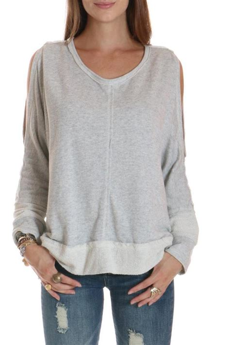 Cold Shoulder Sweatshirt elan cold shoulder sweatshirt from new york by leeann