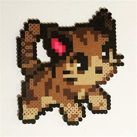 perler bead cat cat perler by perler bead artwork perler